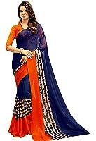 Navya Women's Chiffon Saree With Blouse Piece (Nav309_Multi-Coloured)