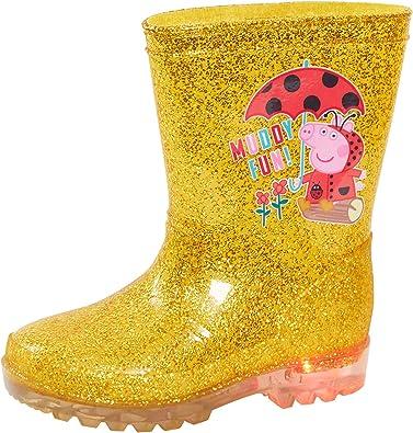 Peppa Pig Flower Blue Wellington Boots Girl/'s Rain Wellies Sizes 4 to 10 UK Kids