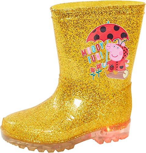 Peppa Pig Girls Gold Light Up Glitter