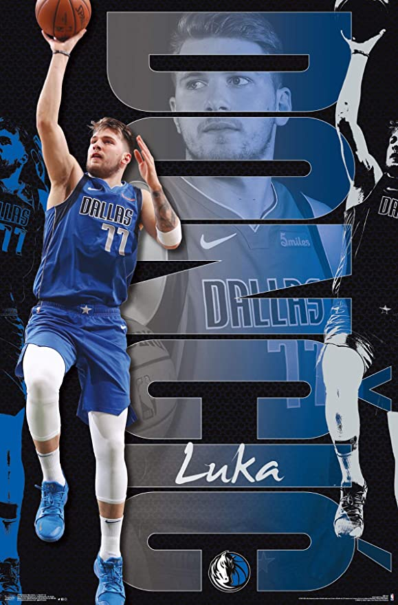 Amazon Com Trends International Nba Dallas Mavericks Luka Doncic 22 375 X 34 Unframed Version Home Kitchen