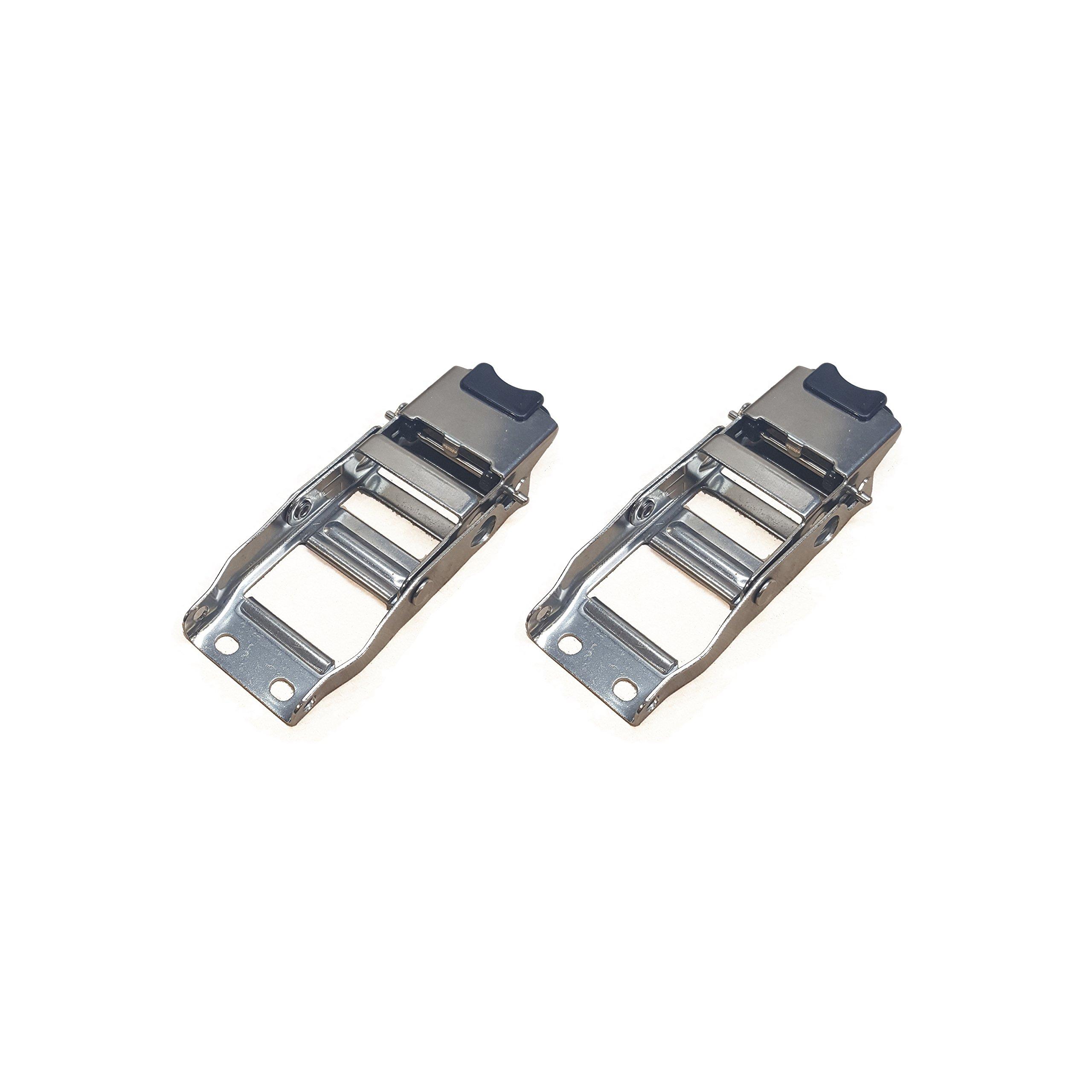 2'' Transom Trailer Tie-Down Overcenter Stainless Steel Locking Buckle - Pack of 2