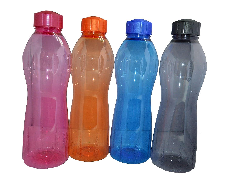 Zap Impex® Violonchelo Aqua Botella de agua Juego de 4 Sin BPA 1 L 4 piezas, Multi Color: Amazon.es: Hogar