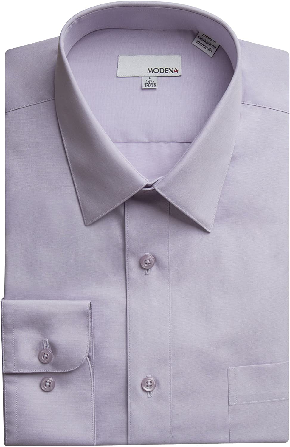 Modena Men/'s Regular /& Contemporary Fit Long Sleeve Solid Dress Shirt All Sizes Slim Colors