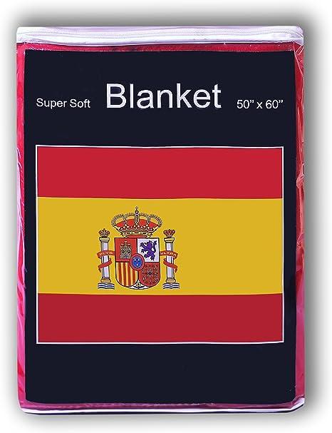 Manta de forro polar de bandera de España 5 ft x 4.2 Ft. Manta para cama de bandera de España La bandera de España: Amazon.es: Hogar