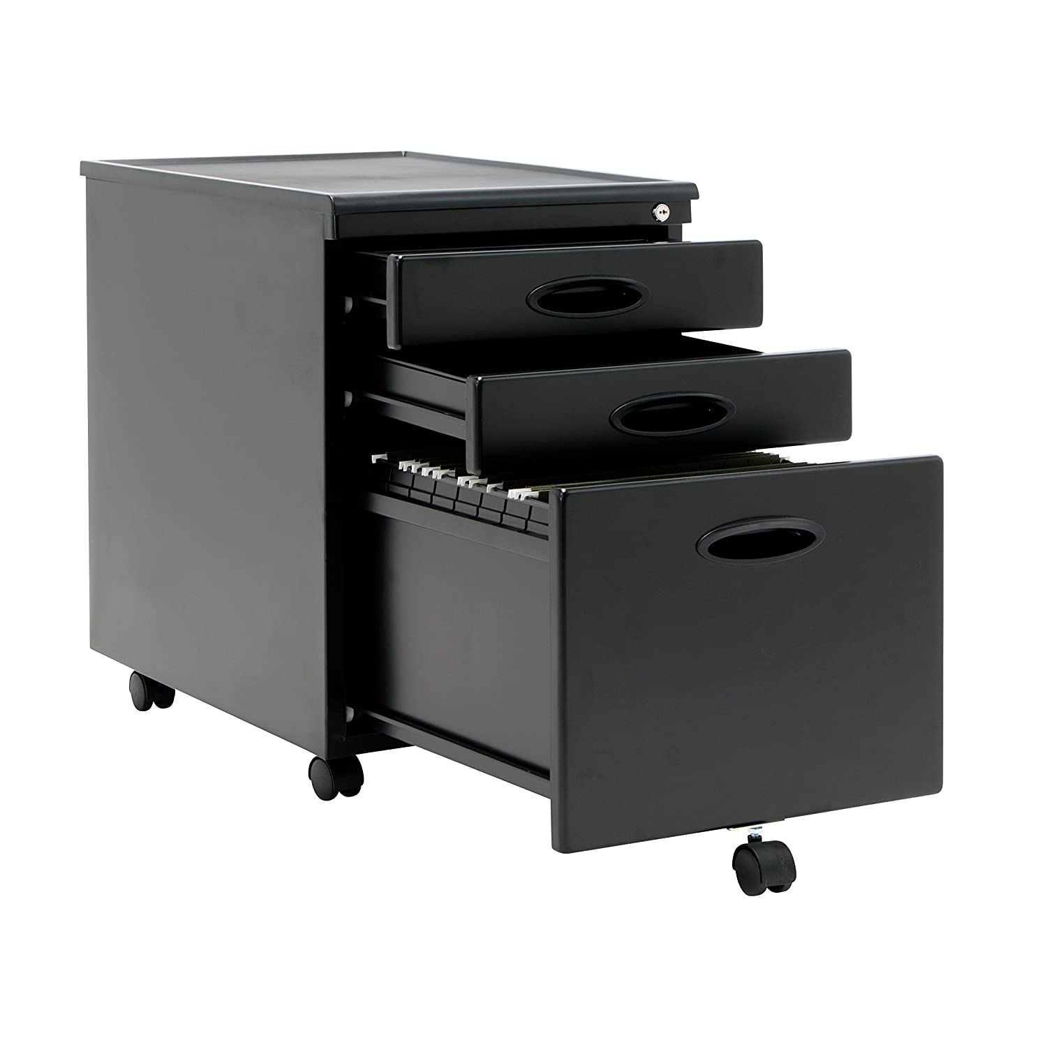 Roll Around File Cabinets Amazoncom Calico Designs File Cabinet In Black 51100 Arts