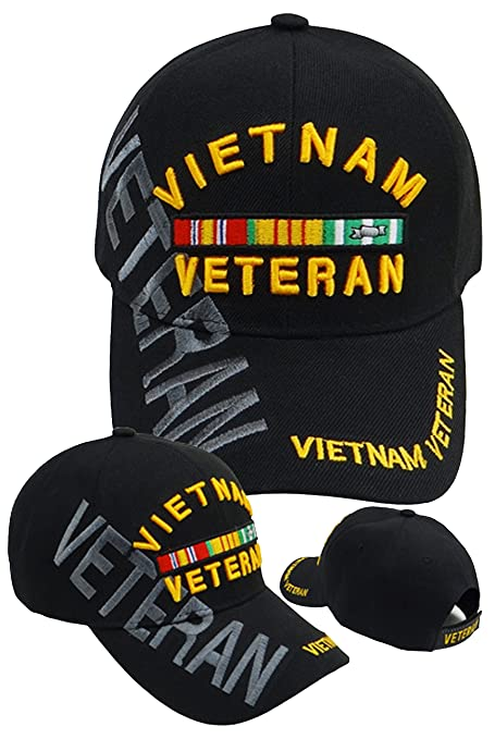 56d7d3543ecd6 Buy Caps and Hats VIETNAM VETERAN Embroidered Military Baseball Cap Mens (Black  Vietnam Veteran Hat