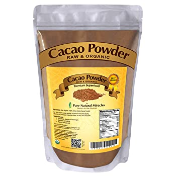 Pure Natural Miracles Organic Raw Unsweetened Cocoa Powder