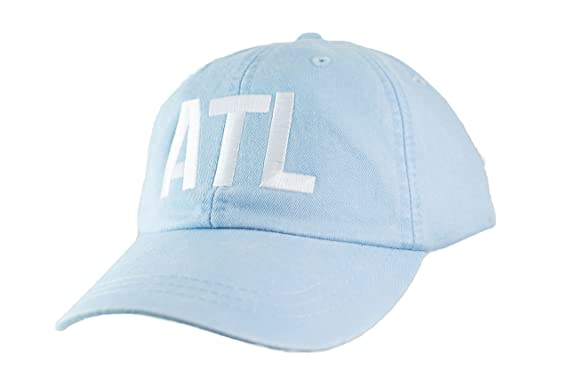 202d2ddac3fa4 Image Unavailable. Image not available for. Color  Mary s Monograms  Embroidered ATL Airport Code Hat ...