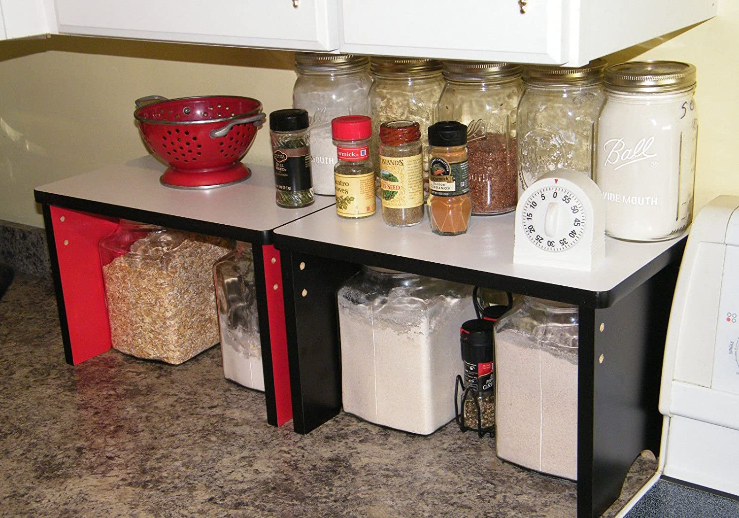 Ordinaire Amazon.com: Kitchen Countertop Small Shelf Space Saver Organizer    Stackable: Kitchen U0026 Dining