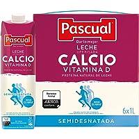 Pascual Leche Calcio Semidesnatada - Paquete de 6