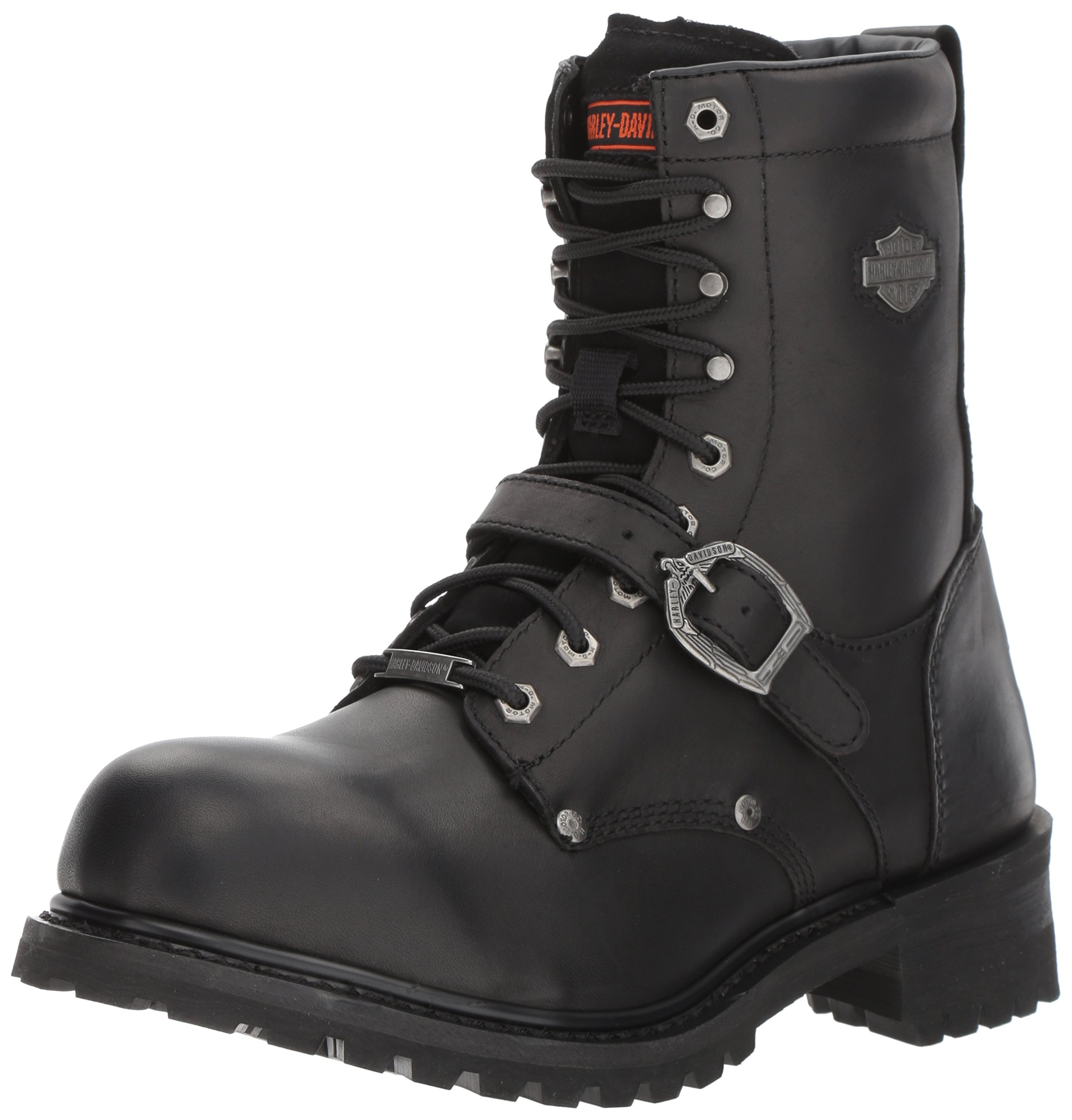 Harley-Davidson Men's Faded Glory Motorcycle Boot, Black, 10.5 Wide US
