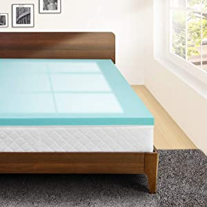 Memory Foam 3 Inch Twin XL Mattress Topper, Extra Long Twin Mattress Pad, Gel Infused Bed Topper for College Dorm