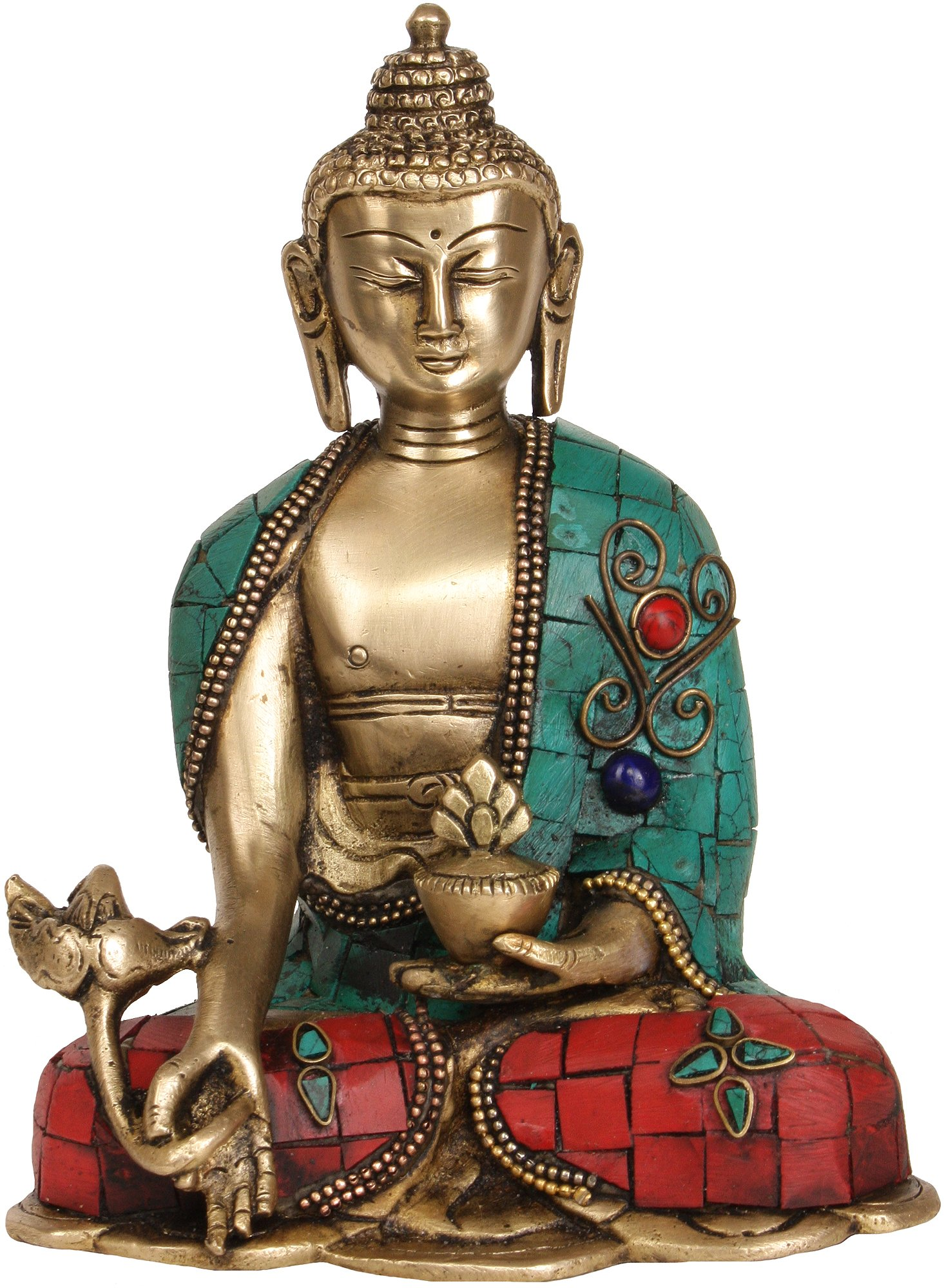 The Medicine Buddha - Brass Statue