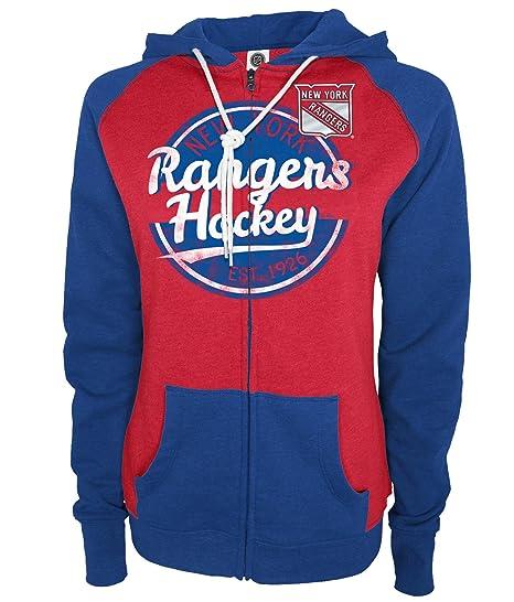c3ffc9ae7 Amazon.com   Knights Apparel NHL New York Rangers Women s Full Zip ...