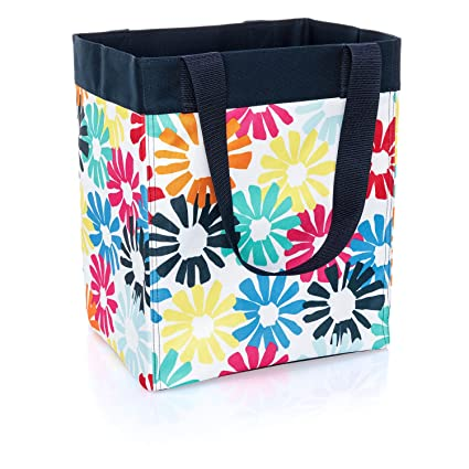 Beau Thirty One Essential Storage Tote In Bloomin Bouquet   No Monogram   4446