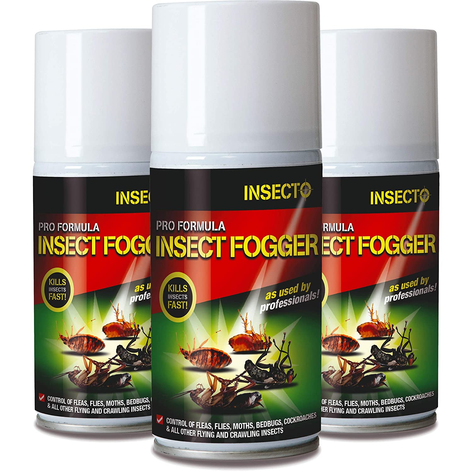 3 X Insecto INS3002 Super Flea & Fly Bomb Pack of 3 Jalex®