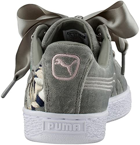ff32b65b21bb9 Puma Women s Basket Heart Hyper Emb Wn S Rock Ridge Sneakers  Buy Online at  Low Prices in India - Amazon.in