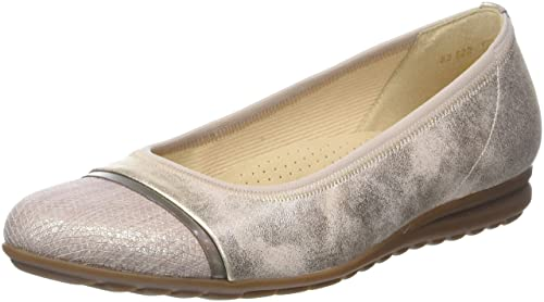 Womens Comfort Sport Closed Toe Ballet Flats, Grey Gabor