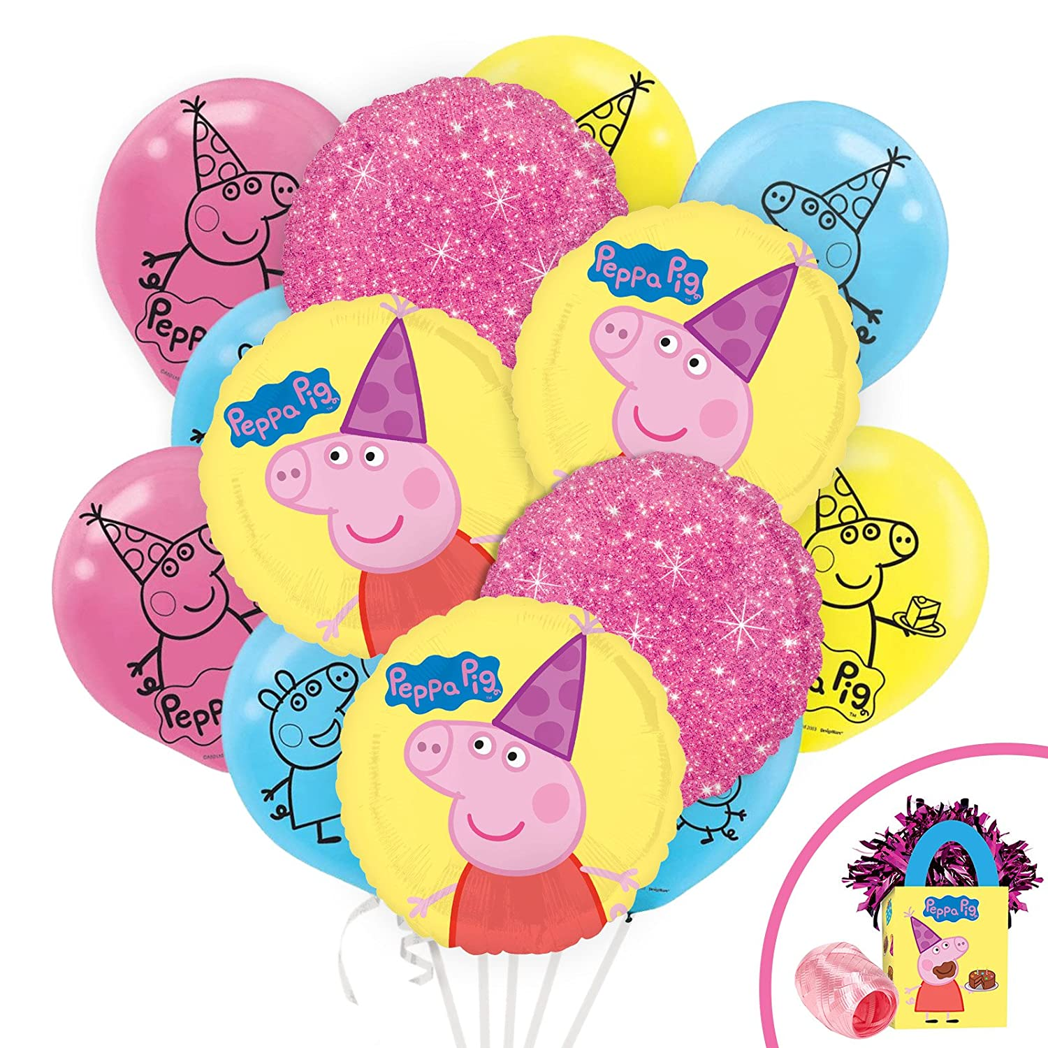 """Superhero Collection 12/"""" Assorted with Yellow Latex Balloons 5ct by Party Decor"""