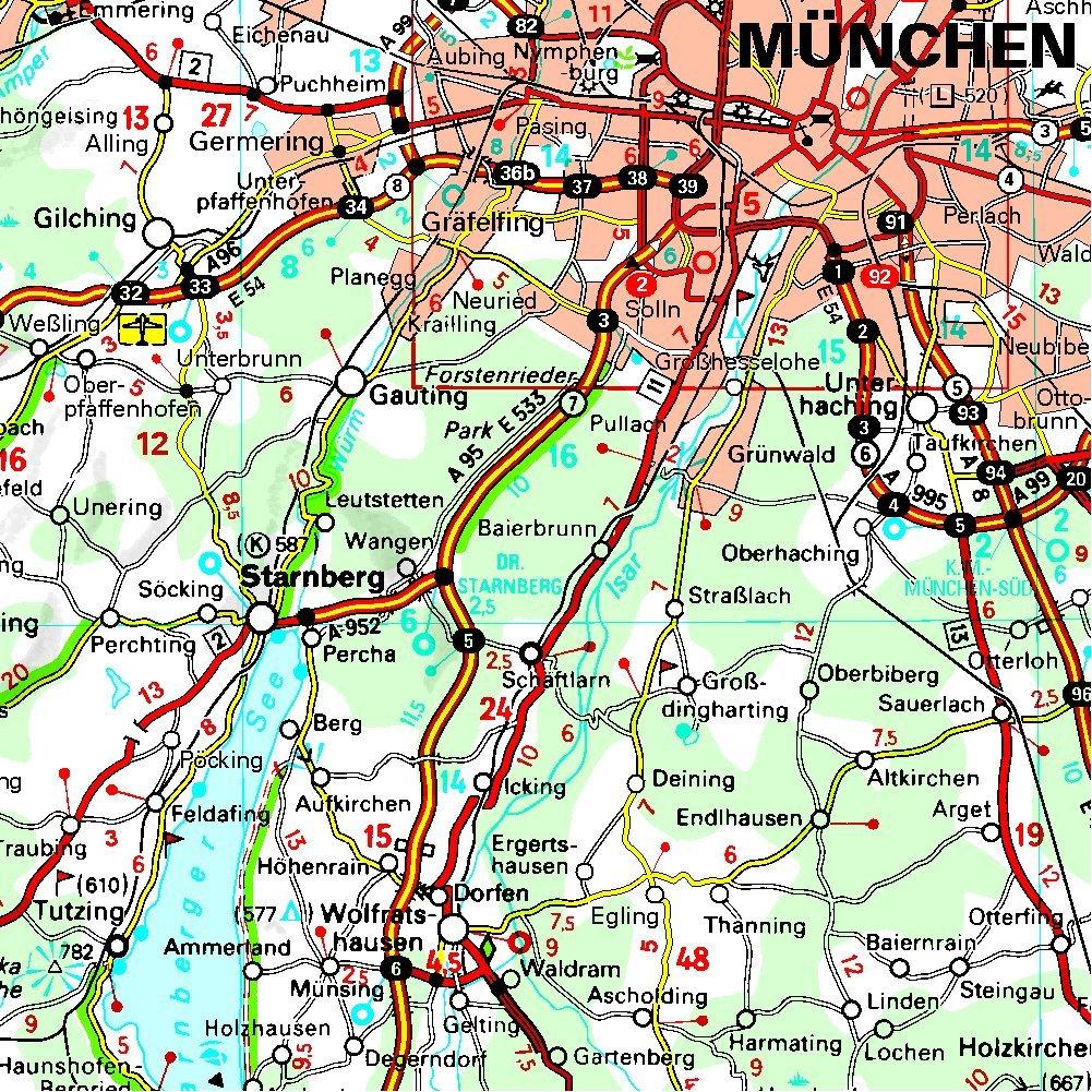 Amazon Fr Carte Allemagne Sud Est Baviere Michelin Michelin Livres