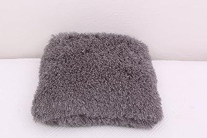 Funda de almohada de colour gris con relleno de la almohada peluda cojín de 45 x