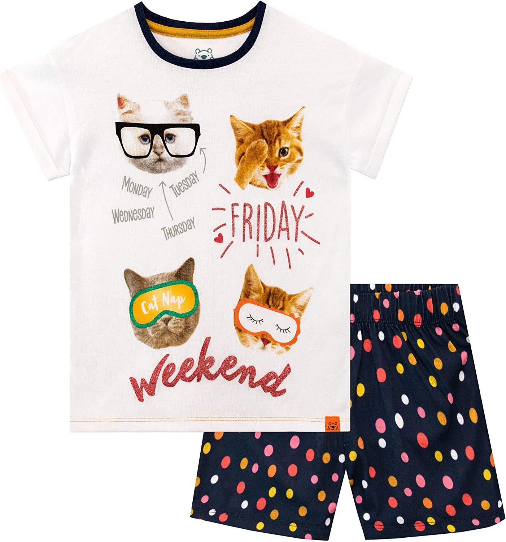 Harry Bear Girls Leopard Print Short Pyjamas