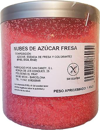 Algodón Nubes de Azúcar Fresa 1 Kg: Amazon.es: Alimentación y bebidas