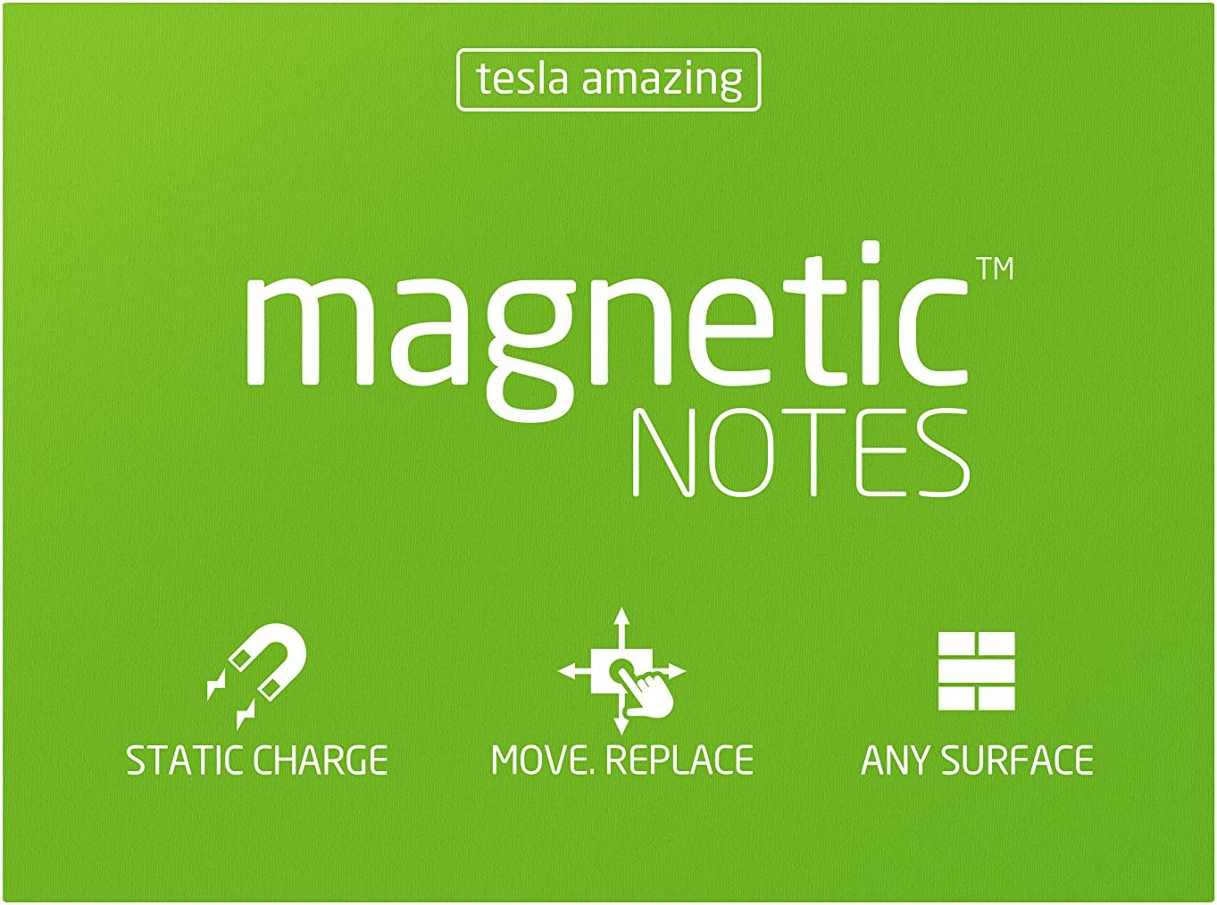 100sheets Transparent Sticks on Any Surface Magnetic Notes Tesla Amazing L Size Classic Collection