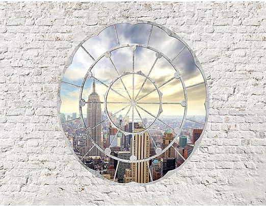Fototapete Fenster nach New York Vlies Wand Tapete Wohnzimmer Schlafzimmer  Büro Flur Dekoration Wandbilder XXL Moderne Wanddeko - 100% MADE IN GERMANY  ...