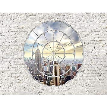 Fototapeten Fenster nach New York 352 x 250 cm Vlies Wand Tapete ...