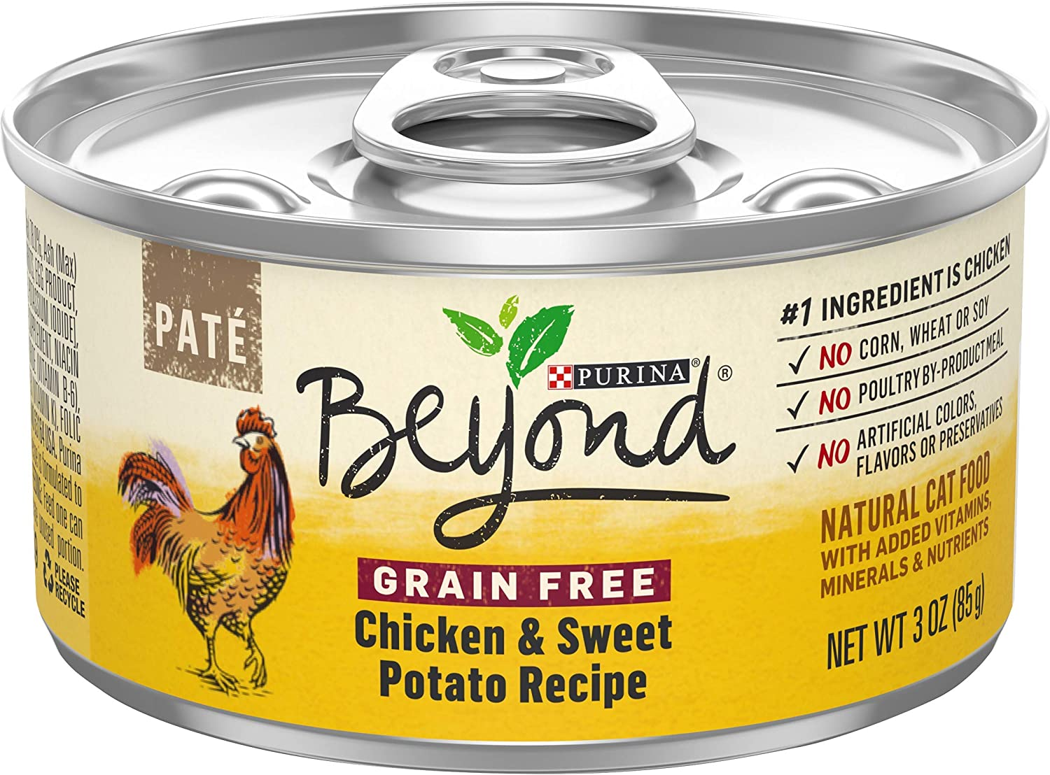 Purina Beyond Grain Free, Natural, Adult Wet Cat Food Pate - (12) 3 oz. Cans (Packaging May Vary)