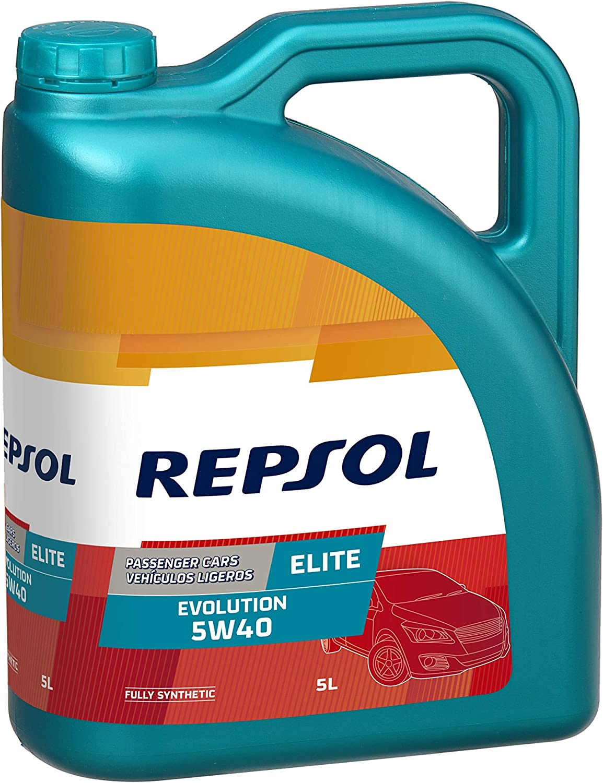 Repsol RP141J55 Elite Evolution 5W-40 Aceite de Motor para Coche, Multicolor, 5 L