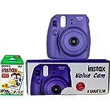 Fujifilm Instax Mini 8 Value Cam Instant Camera - Combo offer (Camera + 20 Instant Films) (Grape)