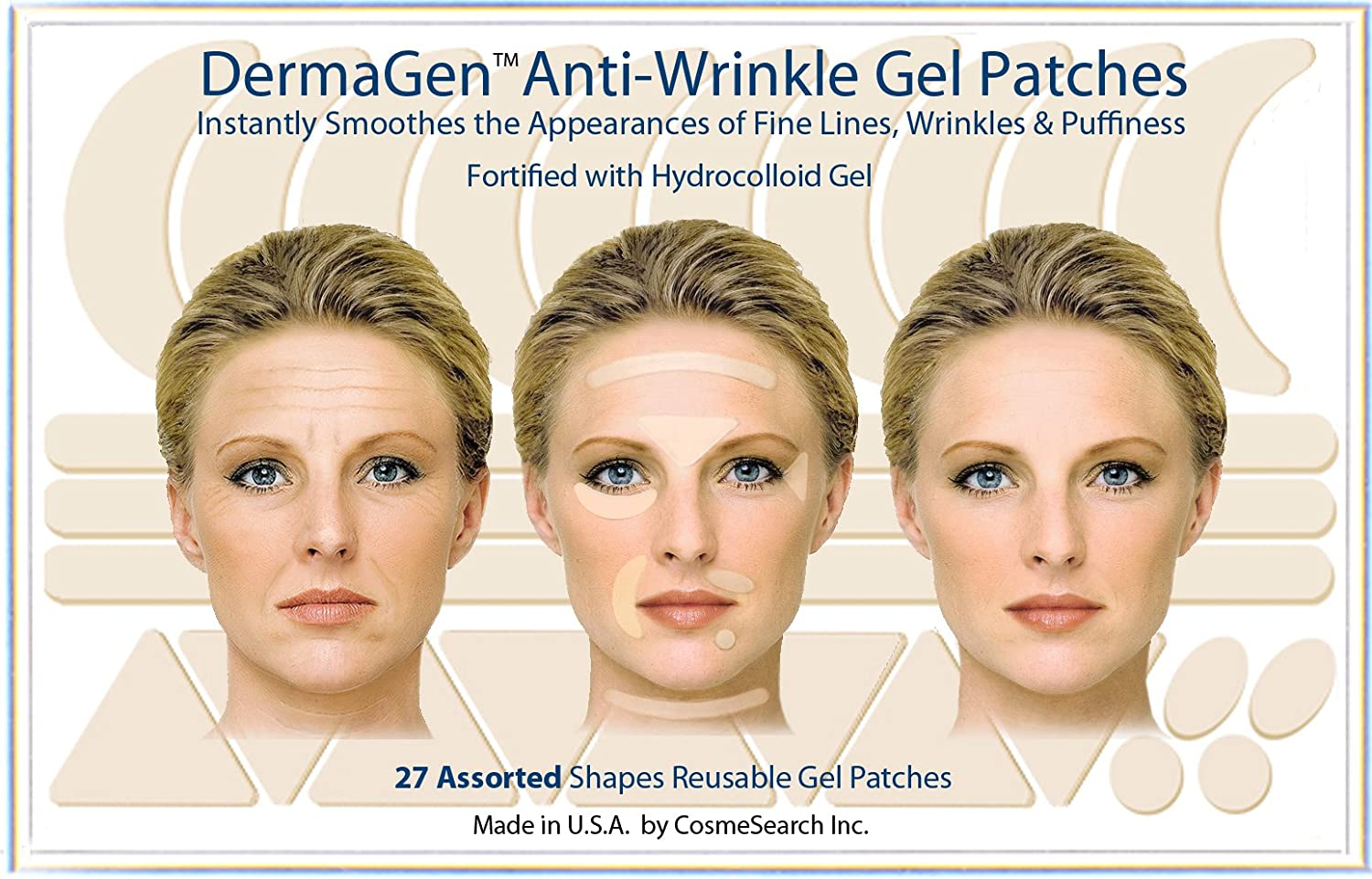 DermaGen Anti-Wrinkle Patches with Hydrocolloid Gel (Assorted) CosmeSearch Inc.