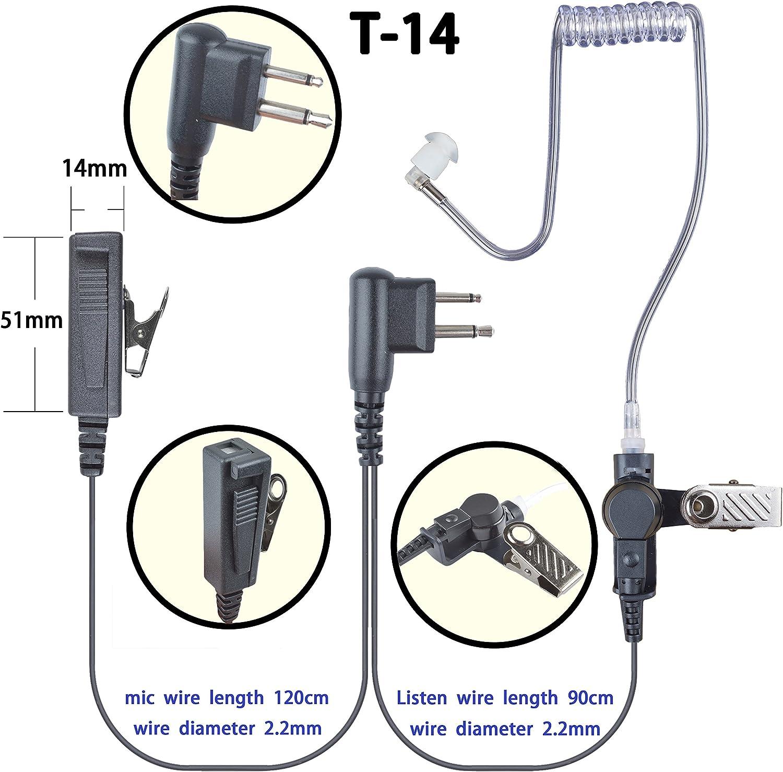 2-wire Surveillance Earpiece For Motorola RDU4100 RDU4160D CP200 CP200D Portable