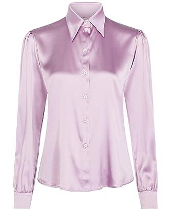 cdda973475e Tommy Hilfiger Women's Zendaya Satin Shirt Pink at Amazon Women's Clothing  store: