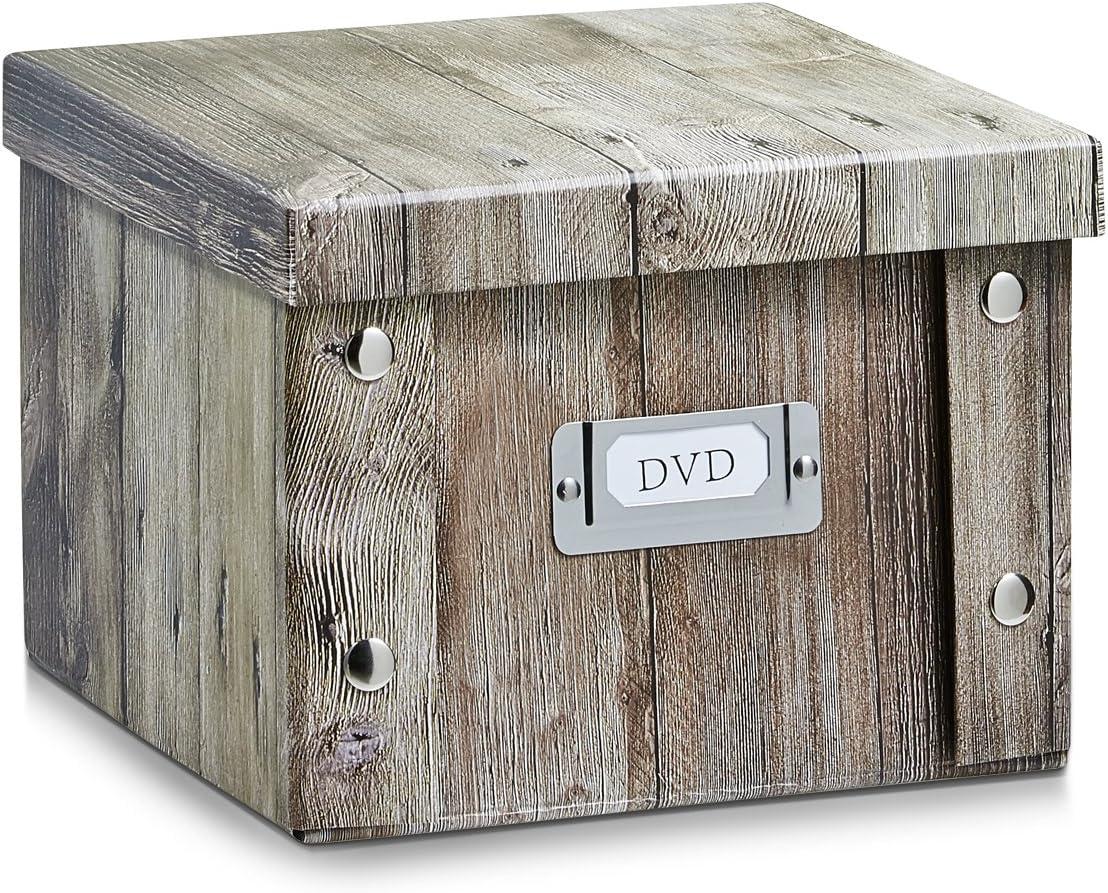 Zeller 17973 Caja de almacenaje con Ventana cartón 35 x 43 x 30 cm ...