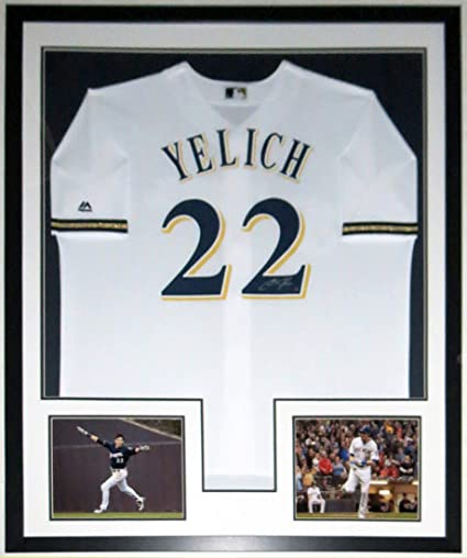 sale retailer 457d4 fbc17 Christian Yelich Signed Authentic Majestic Milwaukee Brewers ...