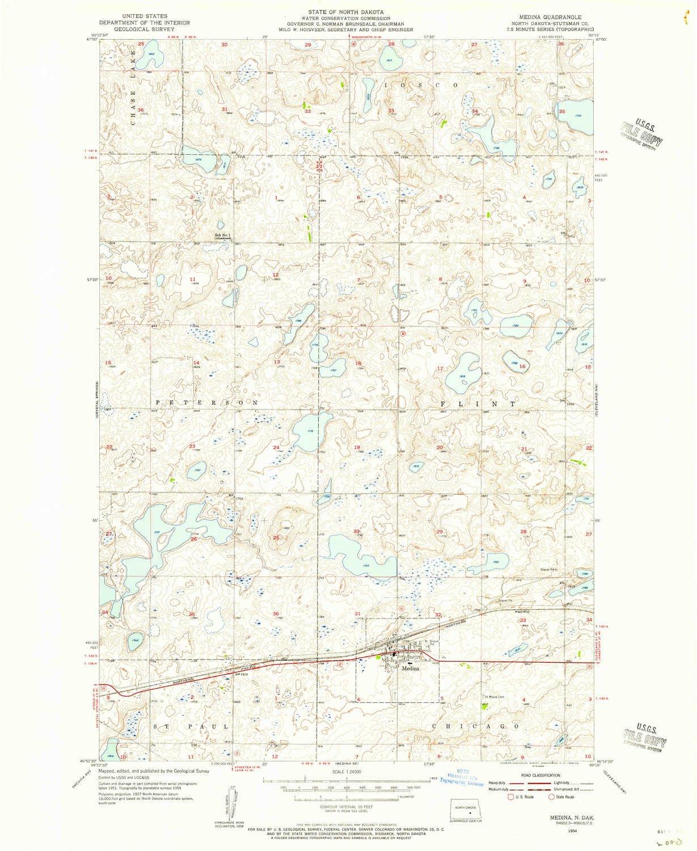 Medina Washington Map.Amazon Com Yellowmaps Medina Nd Topo Map 1 24000 Scale 7 5 X 7 5