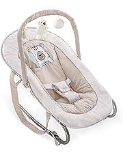 Hauck Bungee Deluxe - Hamacas bebes, mecedora con movimiento, respaldo ajustable, sistema de arnés, arco de juegos, de 0 meses hasta 9 kg, antivuelco, portátil, Friend, beige