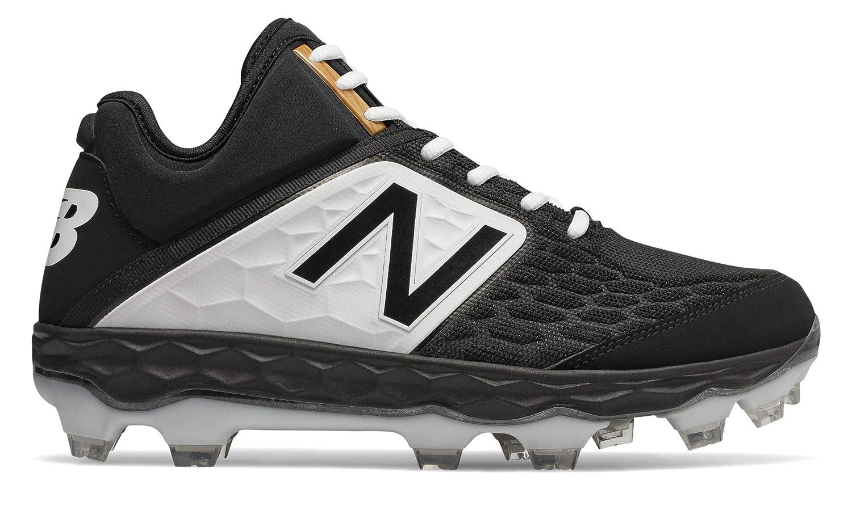 [New Balance(ニューバランス)] 靴シューズ メンズ野球 Fresh Foam 3000v4 Mid-Cut TPU B07JBQ7PLT 24.0 cm|ブラック/ホワイト ブラック/ホワイト 24.0 cm