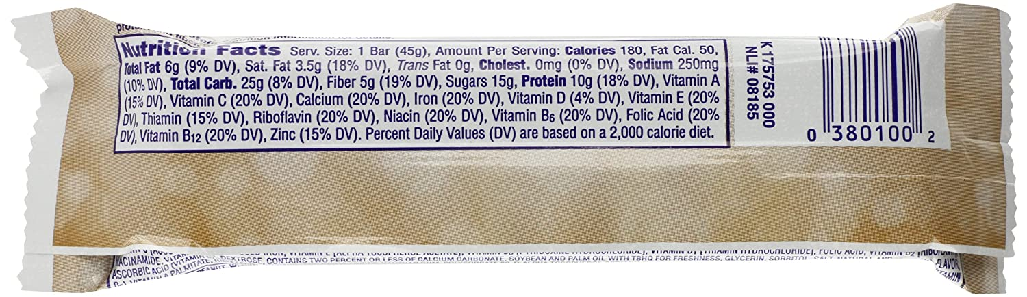 Special K Chocolate Peanut Butter Protein Meal Bar Carbs