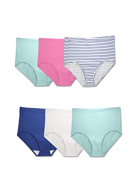 184d152628a Fruit of the Loom Women s Plus Size Comfort Covered Cotton Assorted Briefs