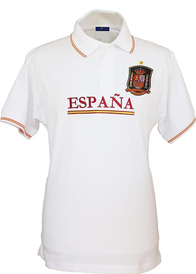 Pi2010 - Polo España Blanco, Bordado Delantero, Escudo Selección ...