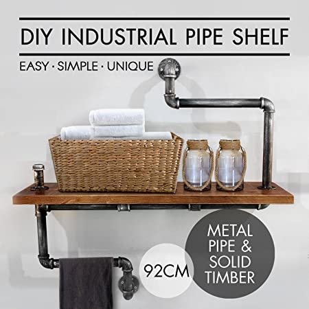 metal pipe homes amazoncom industrial bookcase pipe shelf boards reclaimed