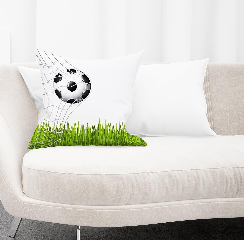 12/'/'x 12/'/' Jennifer Davidson New Cushion Football Goal 3D Design Digital Print By UK Made