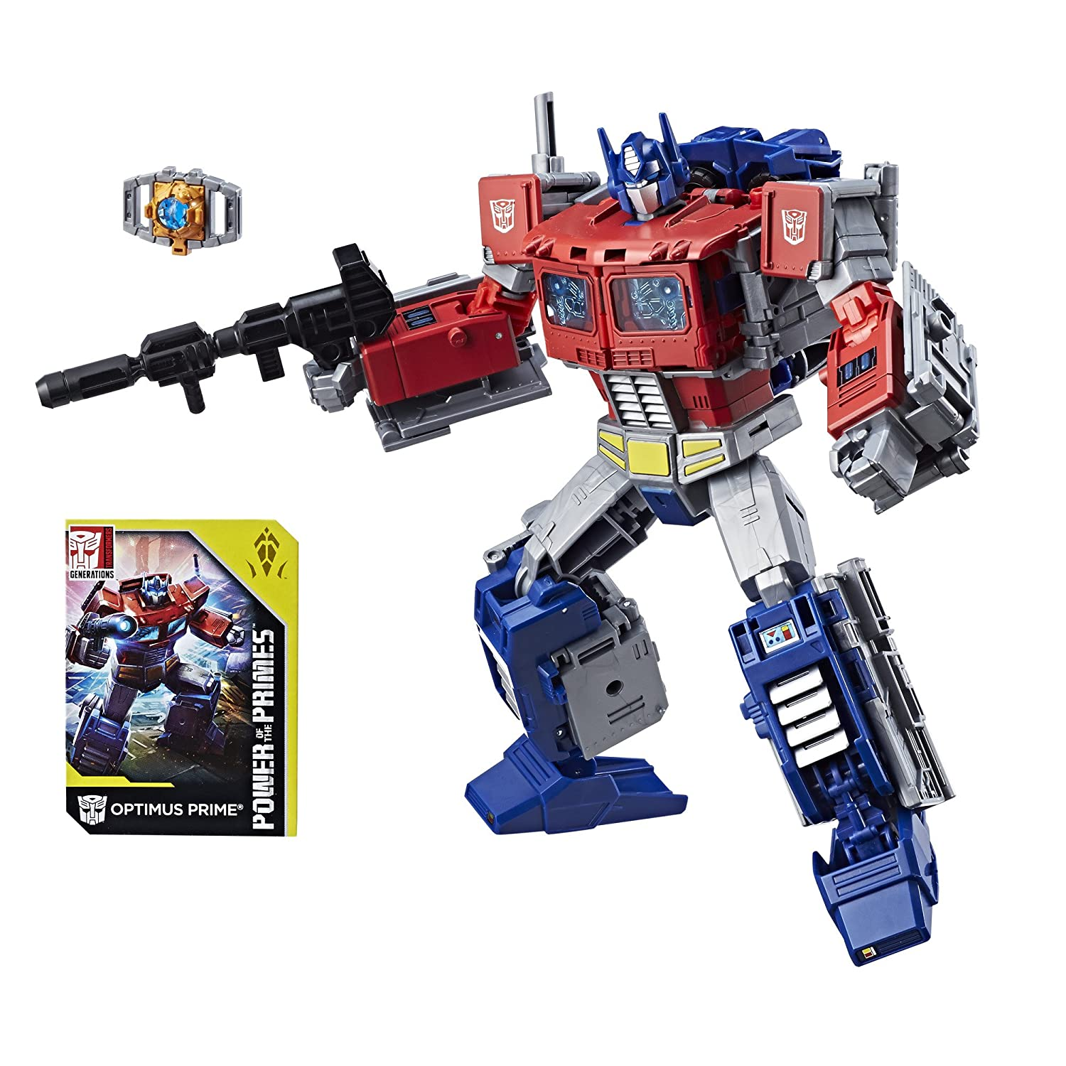 Transformers Generations : Power of The Primes – Leader Class – Optimus Prime – 22cm Actionfigur mit Accessories