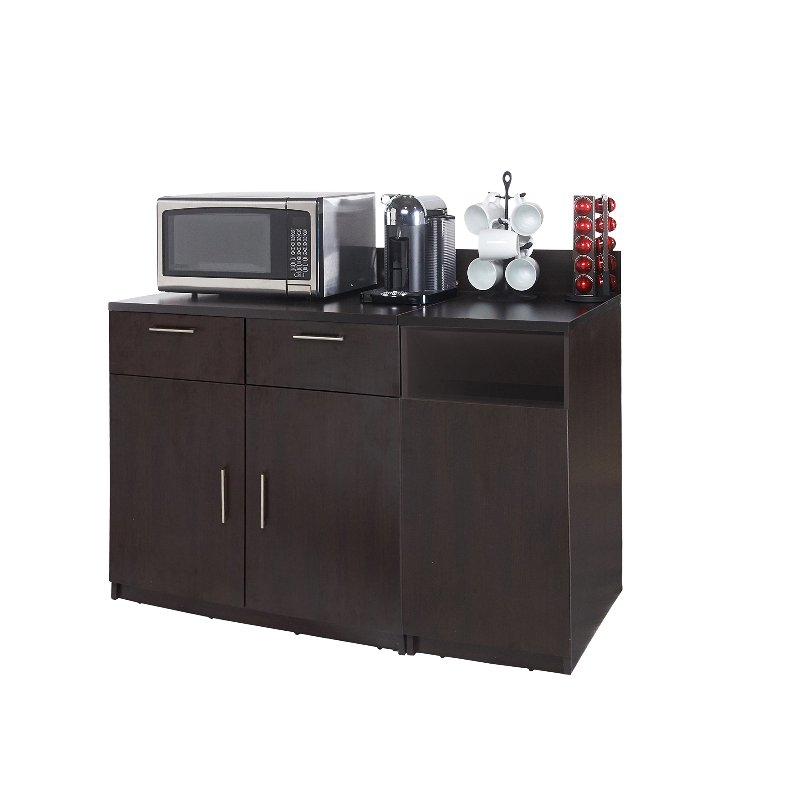 Coffee Kitchen Lunch Break Room Cabinets Model 4284 BREAKTIME 2 Piece Group Color Espresso - Factory Assembled (NOT RTA) Furniture Items ONLY.