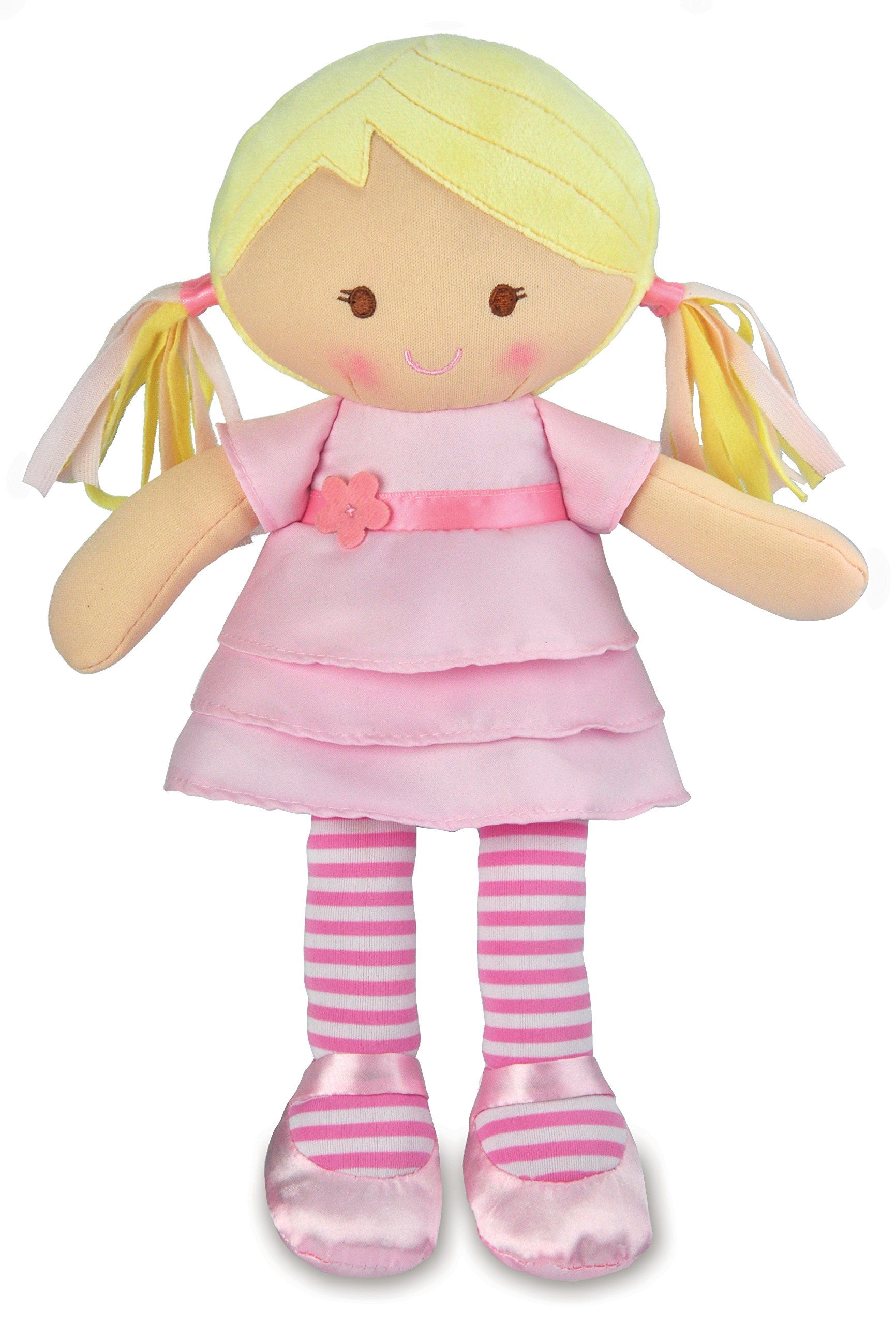 Amazon Com Girls Ella Toddler Doll With Pink Hair Baby