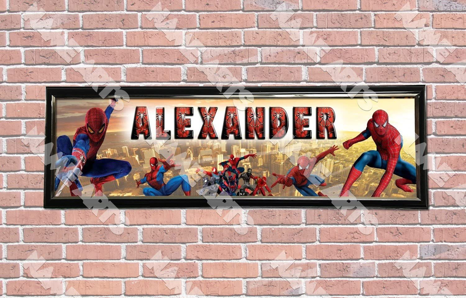 Personalized Customized Superman Movie Name Banner Wall Decor Poster with Frame